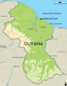 map of guyana south america road map of guyana and guyana road maps