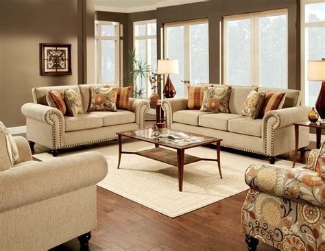 Fabric Sofas Living Room Tan Fabric Sofa