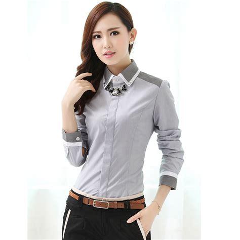 office fashion ladies pinterest new 2017 spring fall formal women gray shirts fashion
