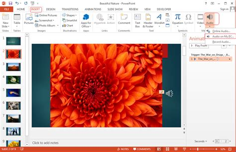 format audio powerpoint 2010 how to play a sound across multiple slides in powerpoint 2013
