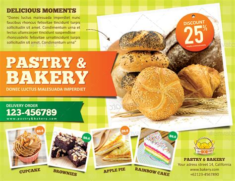 Bakery Flyer Template By Monggokerso Graphicriver Bakery Flyer Templates Free