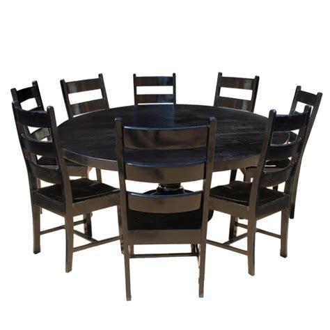 nottingham rustic solid wood black  dining room table set