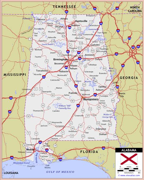 road map of alabama alabama highway and road map raster image version world