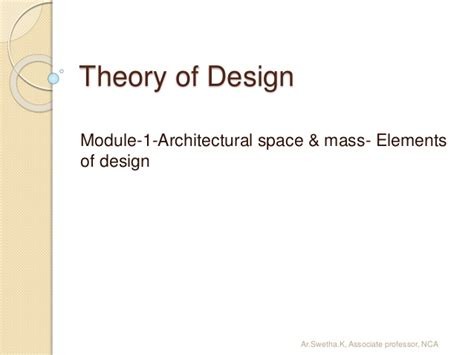 design elements mass module 1 elements of design