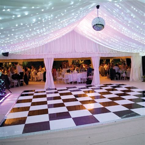 Beautiful Flatware dance floor rental for any size event all occasion rentals