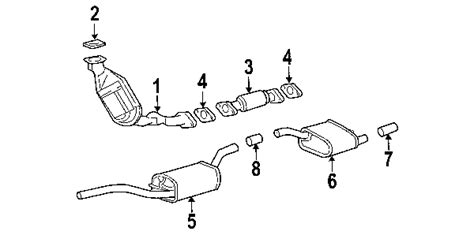 2004 ford taurus exhaust system diagram parts 174 ford gasket exh manif to partnumber ys4z9450ca