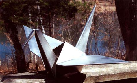 Origami Sculpture - origamisculpture bruce keller s origami metal