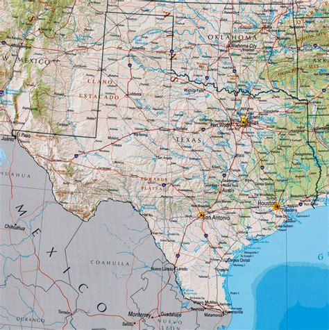 texas on map maps of texas texan flags maps economy geography climate resources current