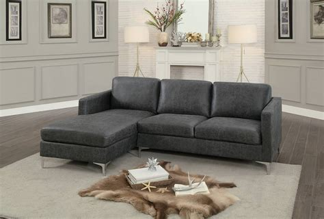 homelegance breaux sectional sofa gray fabric 8235gy