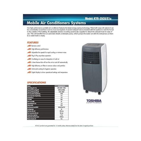 Ac Portable Toshiba toshiba mighty cool portable air conditioner from breathing space