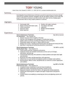 Sample Resume Maintenance Technician General Maintenance Technician Resume Sample My Perfect