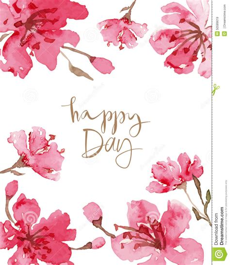 happy day flowers happy day card stock vector illustration of anniversary
