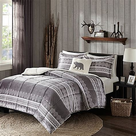 woolrich bedding discontinued woolrich 174 anderson comforter set in grey bed bath beyond