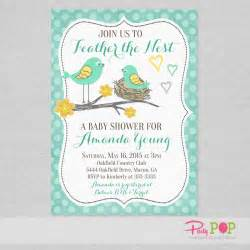 bird baby shower invitations wblqual