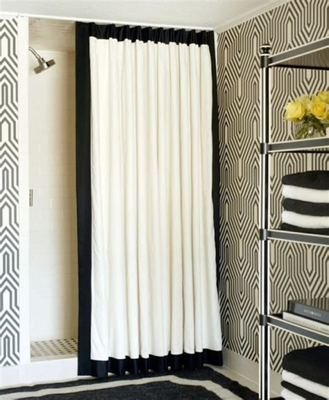 White And Black Shower Curtain by White And Black Creative Shower Curtain For