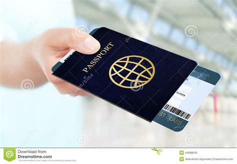 Recording Marker Sticky Notes Post Its Penanda Dokumen Dan Memo holding air ticket and passport on airport stock photo image 44688649
