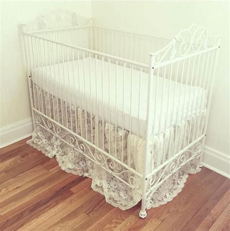 Casablanca Crib Distressed White Distressed Baby Crib