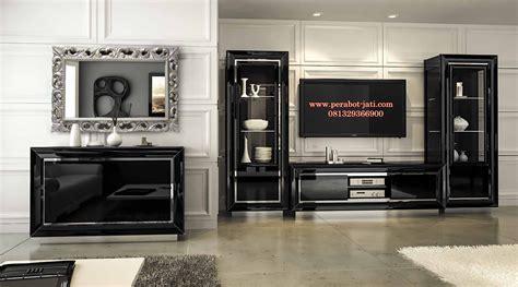 Cabinet Tv Mahoni jual bufet tv mahoni minimalis black perabot jati jepara