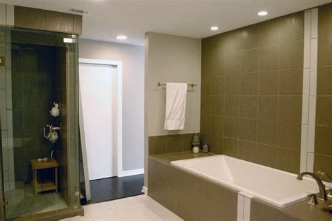 Gorgeous soaker tubs in Bathroom Transitional with Small Master Bathroom next to Small Soaker