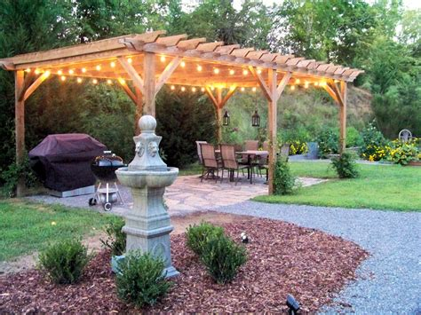 backyard pergola the comforts of home italian string lights