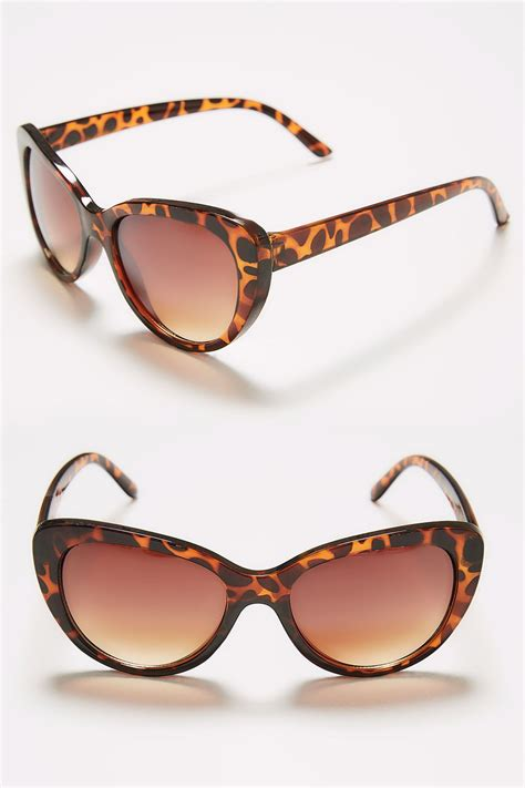 Sunglasses C740 Black brown tortoiseshell cat eye sunglasses with uv protection