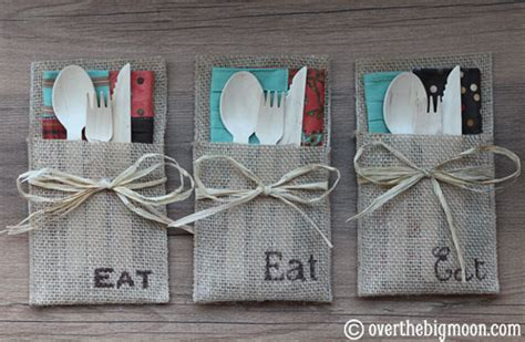 pattern for fabric napkin holder no sew burlap utensil holders how to host an autumn
