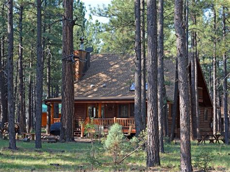 log cabin on national forest homeaway pinetop
