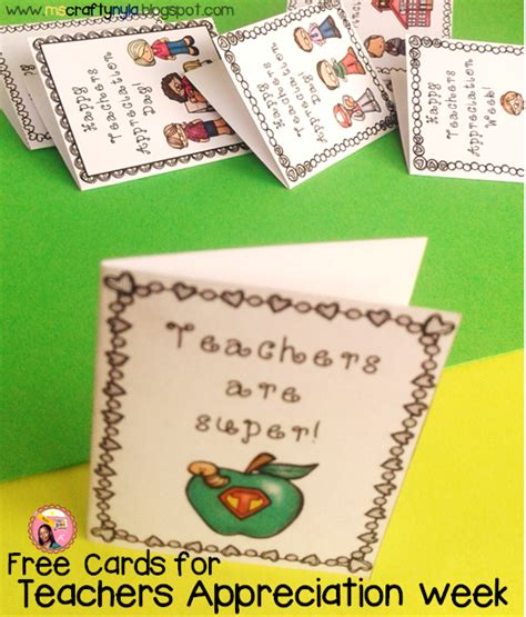 Free Appreciation Week Printable Cards
