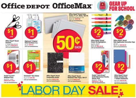 Office Depot Hours Labor Day Office Depot Officemax Back To School Deals For The Week