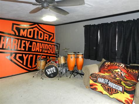 Harley Davidson Home Decor | planning on doing behind motorcycles house ideas pinterest