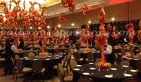 party themes like fire and ice fire and ice themed balloon party decorations