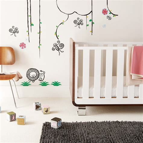 Nursery Decorations Wall Stickers Cool Wall Stickers To Complete Room Decor Digsdigs