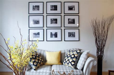picture decorate with black and white photographs