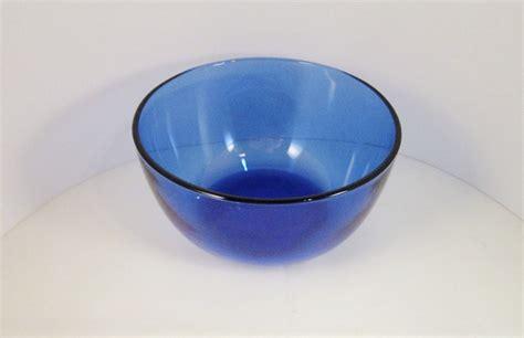 cobalt blue glass bowl serving dish vase for white