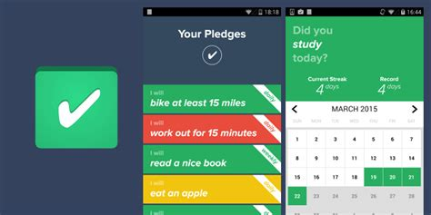 Pledge Make New Habits Android 5 Free Goal Habit Tracking Apps That Are The Best