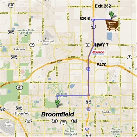 broomfield colorado map broomfield co rv boat storage recreational storage