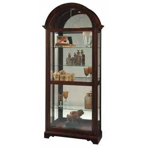 Curio Cabinets Howard Miller Howard Miller Cherry Traditional Curio Cabinet 680543 Lionel