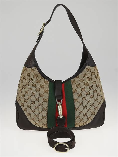 News Web Up Ebelle5 Handbags Purses by Gucci Beige Gg Canvas Vintage Web New Jackie