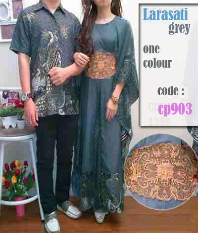 Set Batik Bunga Bata Warna Abu Abu Dan Embos 0149km baju batik larasati cp903 gamis pasangan kaftan