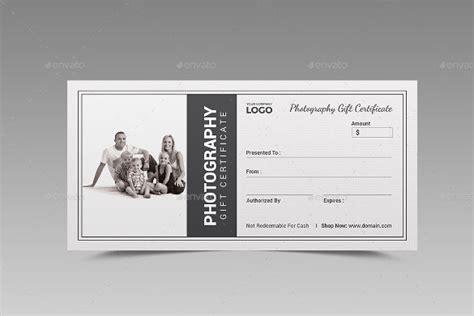 free gift card template photoshop 12 photography gift certificate templates free sle