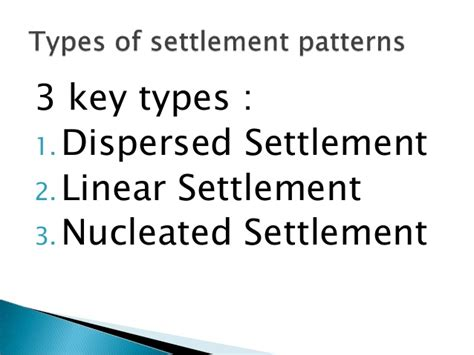 settlement pattern types sec 2 unit 5 settlement patterns