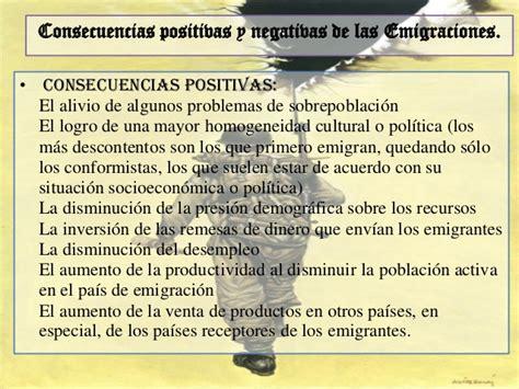 imagenes positivas y negativas de la migracion interna seminario presentacion acerca de la emigracion