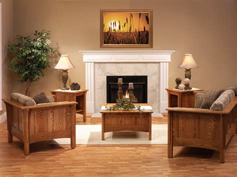 Shaker Living Room by Shaker Living Room Amish Furniture Designed