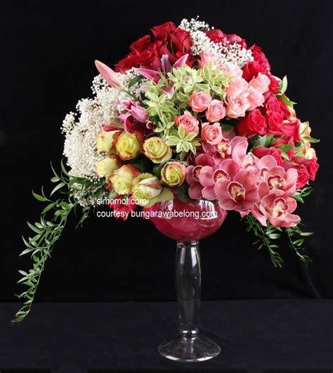 design bunga meja 50 contoh rangkaian bunga segar cara merangkai ala