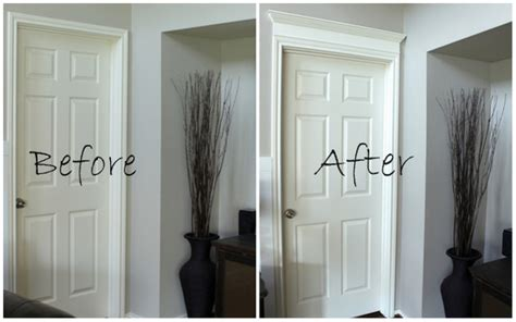 diy molding how to install fancy but simple door casings and trim