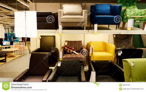 modern furniture warehouse modern furniture store shop stock photo image 58842130
