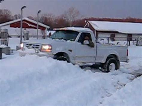 ford     plowing snow  plow youtube