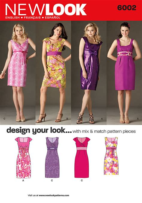 pattern of review article new look 6002 misses design your look dresses