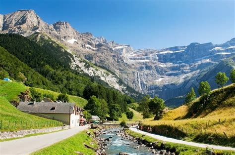 French Country Home Interior Mountain River In The French Pyrenees Stock Photo
