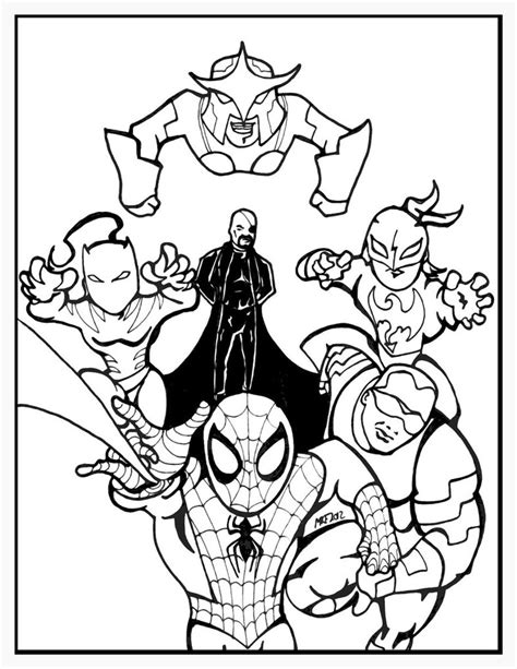 ultimate spiderman cartoon line art by mkeaston77 on